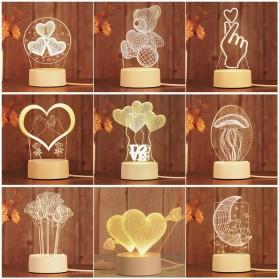SOLOLANDOR Lampu 3D LED Transparan Design JellyFish - LD3300 - White - 2