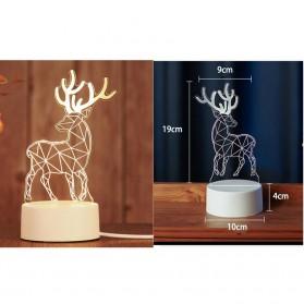 SOLOLANDOR Lampu 3D LED Transparan Design JellyFish - LD3300 - White - 3