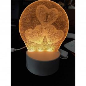 SOLOLANDOR Lampu 3D LED Transparan Design JellyFish - LD3300 - White - 5