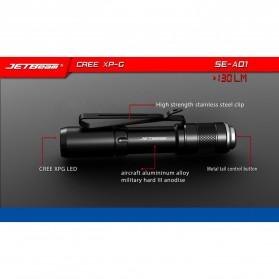 JETBeam SE-A01 Senter LED Mini CREE XP-G3 130 Lumens - Black - 2