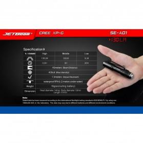 JETBeam SE-A01 Senter LED Mini CREE XP-G3 130 Lumens - Black - 4