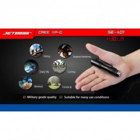 JETBeam SE-A01 Senter LED Mini CREE XP-G3 130 Lumens - Black - 5