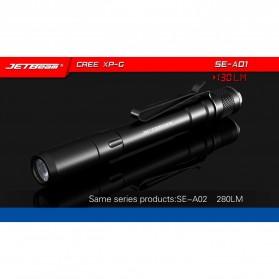 JETBeam SE-A01 Senter LED Mini CREE XP-G3 130 Lumens - Black - 6