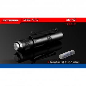 JETBeam SE-A01 Senter LED Mini CREE XP-G 130 Lumens - Black - 7