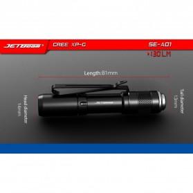 JETBeam SE-A01 Senter LED Mini CREE XP-G 130 Lumens - Black - 9