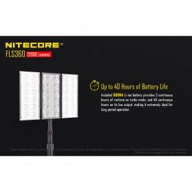 Nitecore Light Panel Floodlight 3 LED 360 Degree 22000 Lumens - FLS360 - Black - 3