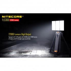 Nitecore Light Panel Floodlight 3 LED 360 Degree 22000 Lumens - FLS360 - Black - 4