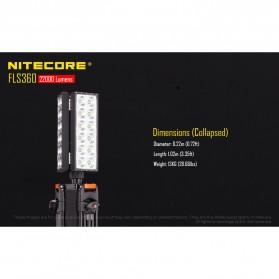 Nitecore Light Panel Floodlight 3 LED 360 Degree 22000 Lumens - FLS360 - Black - 7