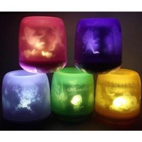 LED Shadow Candle - AA-CD13,LXL381 - Orange