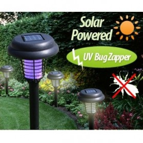 LED Bug Zapper Solar Lawn Light - AA-K-5009 - Black
