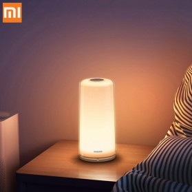 Xiaomi Philips Zhirui Lampu LED Night Light Bedside Lamp 3000-6500K - MUE4082RT - White