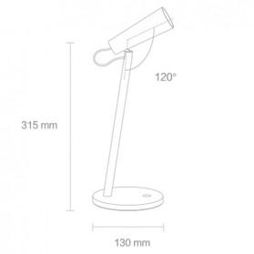 Xiaomi Mijia LED Desk Lamp Lampu Baca Rechargeable 2600-4500K - MJTD03YL - White - 7