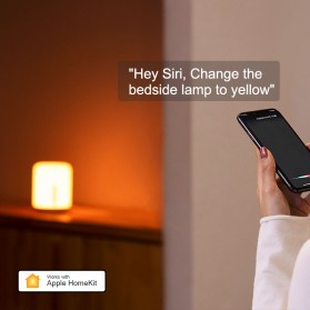 Xiaomi Mijia Bedside Lamp 2 Lampu Tidur LED RGB Bluetooth WiFi Touch Control - MJCTD02YL - White - 2