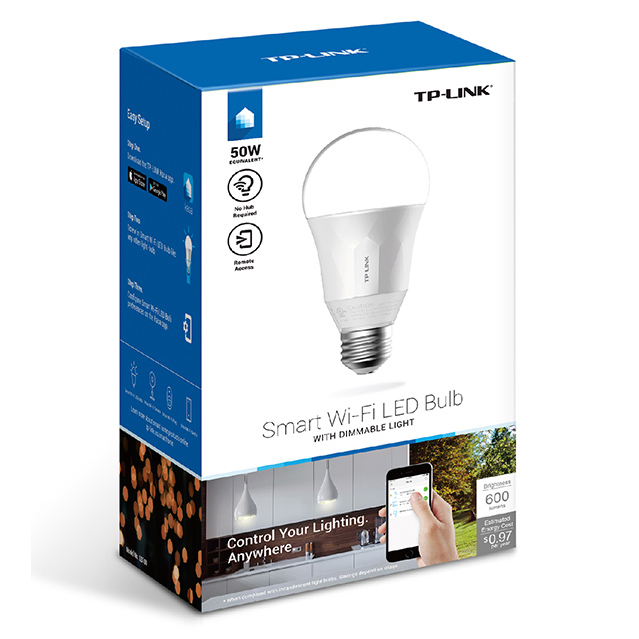 TP-Link Smart Wi-Fi LED Bulb Lampu Bohlam with Dimmable Light 2700K - LB100  - White