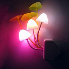 V-tie Romantic LED Mushroom Dream Night Light Bed Lamp - White - 1
