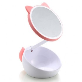 Remax Cermin Makeup dengan Lampu LED - RT-L02 - White/Pink