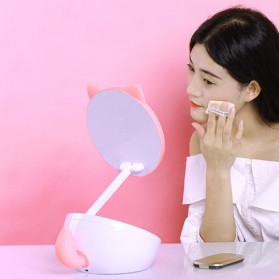 Remax Cermin Makeup dengan Lampu LED - RT-L02 - White/Pink - 4