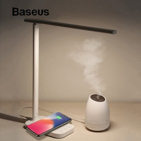 Baseus 2 in 1 Fast Wireless Charger + LED Desk Lamp - T5 - White - 2