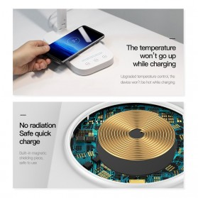 Baseus 2 in 1 Fast Wireless Charger + LED Desk Lamp - T5 - White - 3