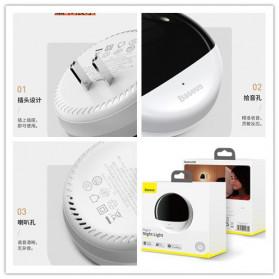 BASEUS Lampu Tidur Pintar LED Plug in Night Light 3500K - DGBS-02 - White/Black - 7
