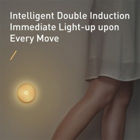 Baseus Lampu Tidur LED Night Light USB Rechargeable Warm Light - Warm White - 6