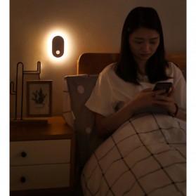 Baseus Lampu LED Magnetic Night Light PIR Sensor Cool White - DGSUN-RB02 - White - 10