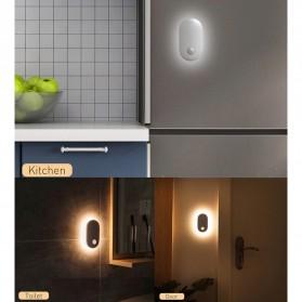 Baseus Lampu LED Magnetic Night Light PIR Sensor Cool White - DGSUN-RB02 - White - 11