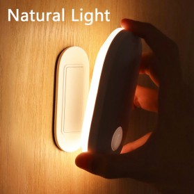 Baseus Lampu LED Magnetic Night Light PIR Sensor Warm White - DGSUN-RA02 - Warm White
