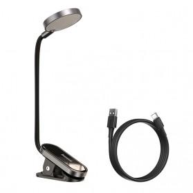 Baseus Comfort LED Desk Lamp Lampu Meja Baca Clip On 3W 4000K - DGRAD-0G - Black