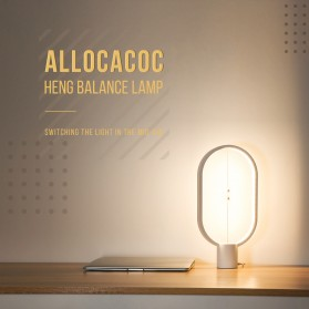 Allocacoc LightMe Lampu Tidur Heng Balance Indoor Table Lamp Night Light - DH0037 - Black - 6