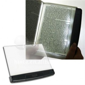 LED Light wedge Panel Book Reading Lamp - Black - 1