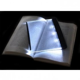 LED Light wedge Panel Book Reading Lamp - Black - 3