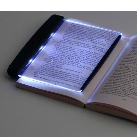 Led Light Wedge Panel Book Reading Lamp Black