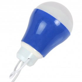 Lampu Belajar / Lampu USB - Lampu Bohlam LED Mini - Blue