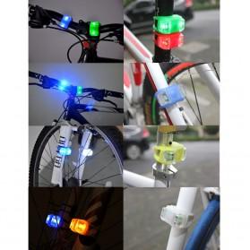 Zacro Lampu LED Sepeda Silikon 2 PCS - HL-009 - Red - 3