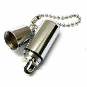Waterproof Refillable Oil Lighter - AM 055 - Silver