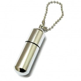 Waterproof Refillable Oil Lighter - AM 055 - Silver - 2