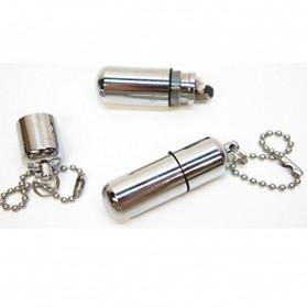 Waterproof Refillable Oil Lighter - AM 055 - Silver - 3