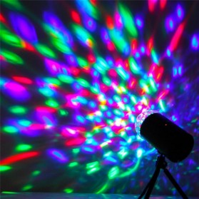 AGM Rotating Crystal Magic Ball Sound Activated LED Disco Lamp - W668 - Multi-Color - 3