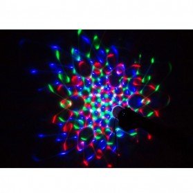 AGM Rotating Crystal Magic Ball Sound Activated LED Disco Lamp - W668 - Multi-Color - 4