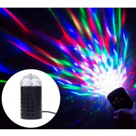 AGM Rotating Crystal Magic Ball Sound Activated LED Disco Lamp - W668 - Multi-Color - 5