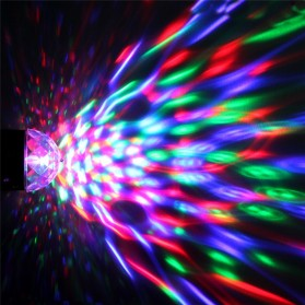 AGM Rotating Crystal Magic Ball Sound Activated LED Disco Lamp - W668 - Multi-Color - 10