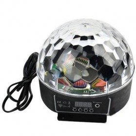 Crystal Magic Ball Sound Activated LED Disco Lamp with DMX512 - Multi-Color - 2