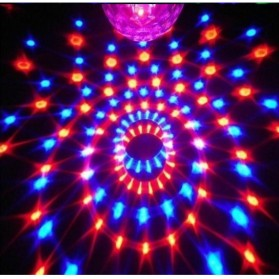 Crystal Magic Ball Sound Activated LED Disco Lamp with DMX512 - Multi-Color - 5
