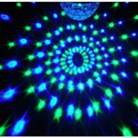 Crystal Magic Ball Sound Activated LED Disco Lamp with DMX512 - Multi-Color - 6