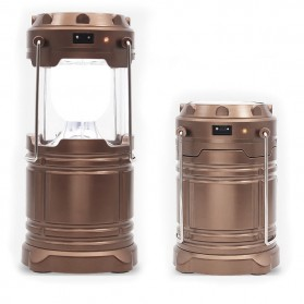 Lampu Lentera Emergency Tenaga Solar 12W - G-85 - Brown