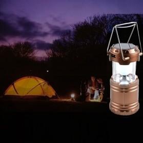 Lampu Lantera Emergency Tenaga Solar 12W - G-85 - Brown - 3