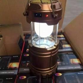 Lampu Lantera Emergency Tenaga Solar 12W - G-85 - Brown - 5