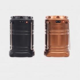 Lampu Lantera Emergency Tenaga Solar 12W - G-85 - Brown - 7