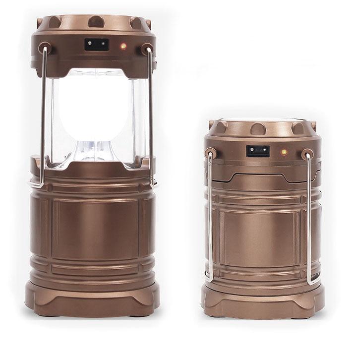 Lampu Lantera Emergency Tenaga Solar - Brown - JakartaNotebook.com 226aea4741
